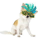 Chihuahua Dog with Bright Carnival Mask Photographic Print by  niknikpo