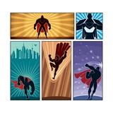 Superhero Banners Prints by  Malchev
