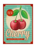 Vintage Styled Cherry Prints by  Marvid