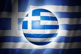 Soccer Football Ball with Greece Flag Poster av  daboost