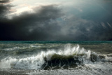 View of Storm Seascape Photographic Print by  yuran-78