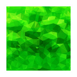 Abstract Green Triangle Background Prints by  epic44