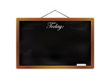 Black Chalkboard with Wooden Frame Poster by  foodbytes