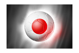 Soccer Football Ball with Japan Flag Posters par  daboost