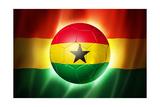 Soccer Football Ball with Ghana Flag Plakater af daboost