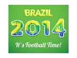 Brazilian 2014 World Cup Plakater av  Kannaa