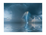 Landscape with the Thunderstorm Prints by  firewings