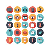 Flat Shopping Icons Set Posters by  bloomua