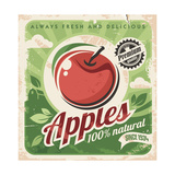 Apples Retro Poster Prints by  Lukeruk
