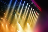 Colorful Stage Lights at Concert Photographic Print by Petr Jilek