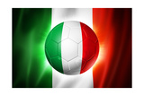 Soccer Football Ball with Italia Flag Art by  daboost