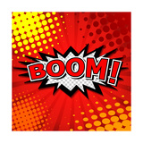 Boom! Comic Speech Bubble, Cartoon Prints by  jirawatp