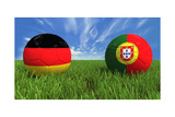 Germany-Portugal Prints by  mhristov