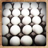 White Eggs in a Carton Photographic Print by pablo guzman