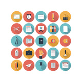 Business and Office Flat Icons Set Posters by  bloomua