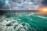 Storm on the Sea Photographic Print by  Kashak