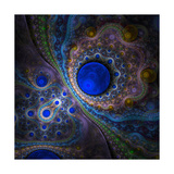 Elegant Abstract Fractal Background on the Black Prints by  Silversky