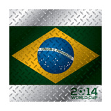 Abstract 2014 World Cup Poster Premium Giclee Print by  vipervxw
