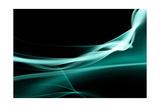 Turquoise Smoke Print by  Nneirda