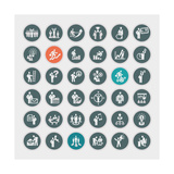 Business Concept Icons Prints by  PureSolution