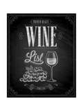 Vintage Wine List Poster Chalkboard Posters by  avean