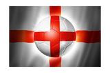 Soccer Football Ball with England Flag Reproduction giclée Premium par  daboost