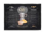 Vintage Chalk Coffee and Croissants Menu Kunstdruck von  Selenka