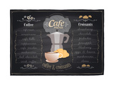 Vintage Chalk Coffee and Croissants Menu Poster by  Selenka