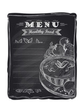 Chalk Healthy Food Menu Prints by  Selenka