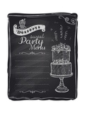 Chalk Desserts Party Menu Posters by  Selenka
