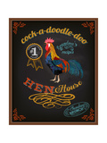 Chalkboard Poster for Chicken Restaurant Prints by  LanaN.