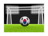 Soccer South Korea Print by  koufax73