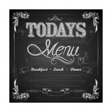Menu Written on Chalkboard Prints by  vectomart
