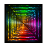 Shining Lights Rainbow Colors Frame Posters by  art_of_sun