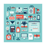 E-Commerce and Shopping Icons Prints by  bloomua
