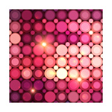 Pink Disco Circles Abstract Background Art by  art_of_sun