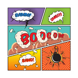 Comic Speech Bubbles Prints by  Macrovector