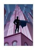 Superhero in City Affiche par  Malchev