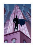 Superhero in City Print by  Malchev