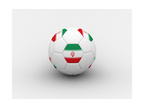 Iran Soccer Ball Print by  dashek