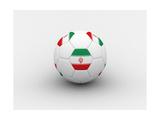Iran Soccer Ball Print by  dashek