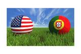 USA-Portugal Plakat av  mhristov