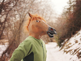 A Woman in a Horse Head Mask Posters by  graphicphoto