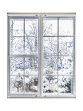 Winter View Through Window Poster by  elenathewise