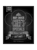 Chef's Specials Poster Chalkboard Prints by  avean