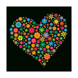 Flower Heart Print by Maksim Krasnov