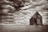 Abandoned Church in the Desert, with Stormy Skies Photographic Print by Robyn Mackenzie