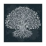 Beautiful Vintage Hand Drawn Tree of Life Plakater af transiastock