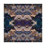 Art Nouveau Geometric Ornamental Vintage Pattern in Beige and Blue Colors Posters by Irina QQQ