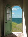 Arched Doorway to Beach Prints by  Kimmit